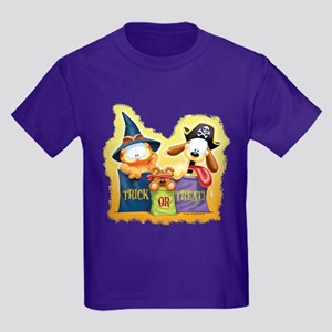 Garfield Trick or Treat Kids Dark T-Shirt