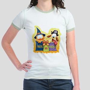 Garfield Trick or Treat Jr. Ringer T-Shirt