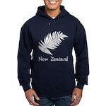 New Zealand Leaves Blue Hooded Sweatshirt