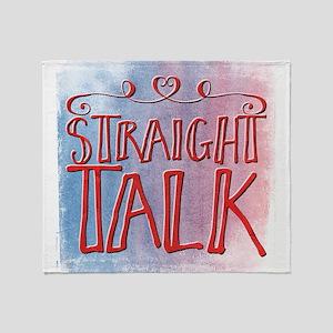 straight talk Throw Blanket