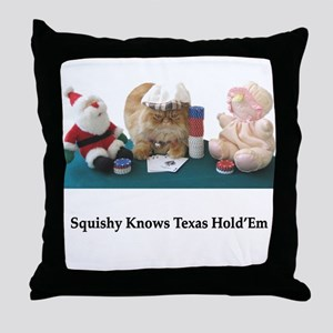 Knows Poker Throw Pillow