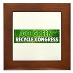 Recycle Congress Framed Tile