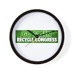 Recycle Congress Wall Clock