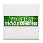 Recycle Congress Tile Coaster