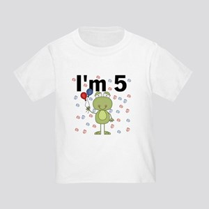 Party Frog 5th Birthday Toddler T-Shirt