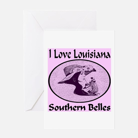 Louisiana Southern Belles Greeting Card