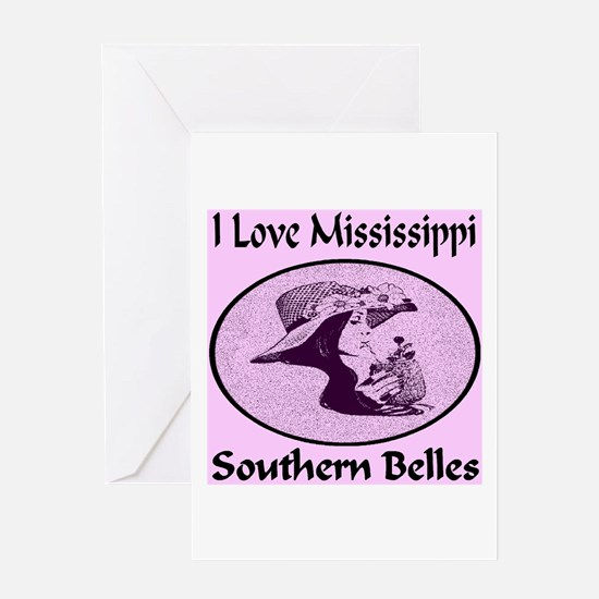 Mississippi Southern Belles Greeting Card