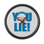 You Lie Large Wall Clock