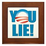 You Lie Framed Tile