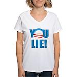 You Lie Women's V-Neck T-Shirt