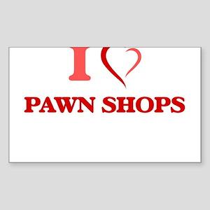 I Love Pawn Shops Sticker