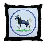 Pinto Arabian Horse Throw Pillow
