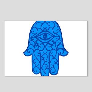 Blue Hamsa Postcards (Package of 8)