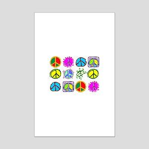 PEACE SYMBOLS Mini Poster Print