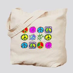 PEACE SYMBOLS Tote Bag