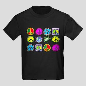 PEACE SYMBOLS Kids Dark T-Shirt