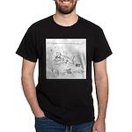 Fish Uses Headphones Dark T-Shirt