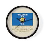 Wisconsin Proud Citizen Wall Clock