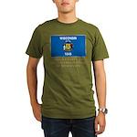 Wisconsin Proud Citizen Organic Men's T-Shirt (dar