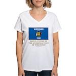 Wisconsin Proud Citizen Women's V-Neck T-Shirt