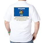 Wisconsin Proud Citizen Golf Shirt