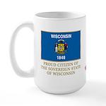 Wisconsin Proud Citizen Large Mug