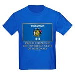 Wisconsin Proud Citizen Kids Dark T-Shirt
