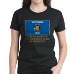 Wisconsin Proud Citizen Women's Dark T-Shirt