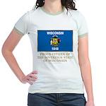 Wisconsin Proud Citizen Jr. Ringer T-Shirt