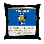 Wisconsin Proud Citizen Throw Pillow