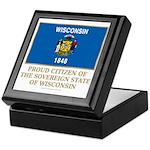 Wisconsin Proud Citizen Keepsake Box