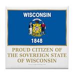 Wisconsin Proud Citizen Tile Coaster