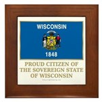 Wisconsin Proud Citizen Framed Tile