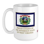 West Virginia Proud Citizen Large Mug