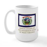 West Virginia Proud Citizen Large Mug
