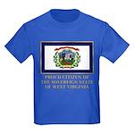 West Virginia Proud Citizen Kids Dark T-Shirt