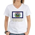 West Virginia Proud Citizen Women's V-Neck T-Shirt