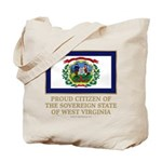 West Virginia Proud Citizen Tote Bag