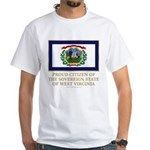 West Virginia Proud Citizen White T-Shirt