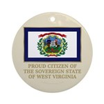 West Virginia Proud Citizen Ornament (Round)
