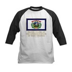 West Virginia Proud Citizen Kids Baseball Jersey