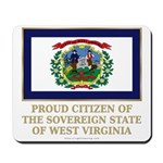 West Virginia Proud Citizen Mousepad