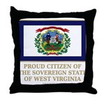 West Virginia Proud Citizen Throw Pillow