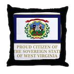 West Virginia Proud Citizen Throw Pillow
