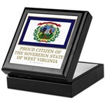 West Virginia Proud Citizen Keepsake Box