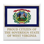 West Virginia Proud Citizen Tile Coaster