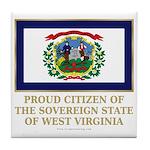 West Virginia Proud Citizen Tile Coaster