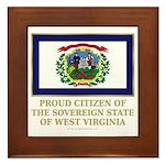 West Virginia Proud Citizen Framed Tile