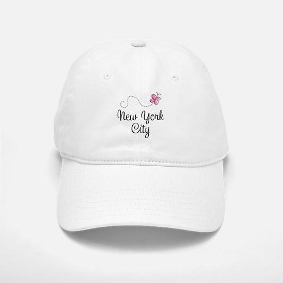 New York City Butterfly Baseball Baseball Cap