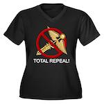 Repeal Obamacare Women's Plus Size V-Neck Dark T-S